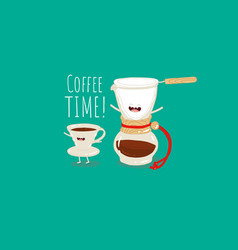 coffee brewing methods coffee dripper filter pour vector image
