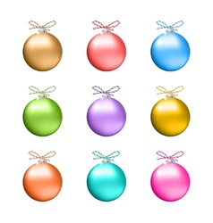 Collection of multicolored christmas balls vector