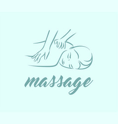 concept of massage body relax vector image