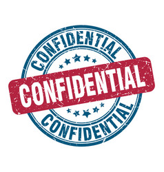 Confidential stamp confidential round grunge sign vector