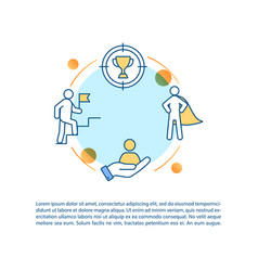 Corporate leadership concept icon with text vector