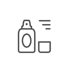 Cosmetic spray line icon vector