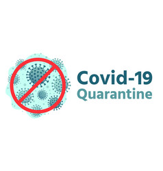 covid19-19 quarantine global health protection vector image