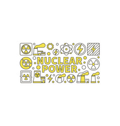 Creative nuclear power vector