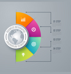 Design infographic template 4 steps vector