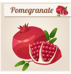 Detailed Icon Pomegranate vector image