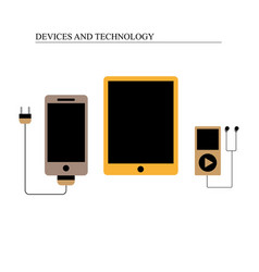 divices and technology vector image