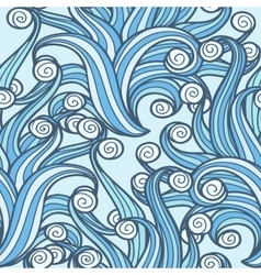 Doodle Swirls Seamless Pattern vector