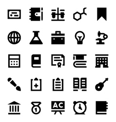 Education and School Icons 8 vector