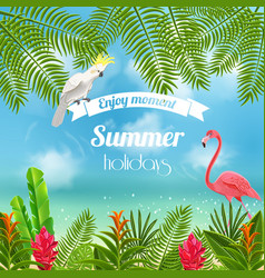 enjoy tropical summer background vector image