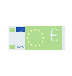 euro banknote design flat cartoon vector image vector image