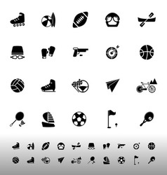 Extreme sport icons on white background vector image