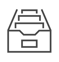 File cabinet thin line icon vector