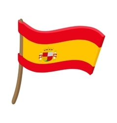 Flag of Spain icon cartoon style vector image