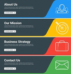 Flat Design Concept Set of Web Banners Template vector