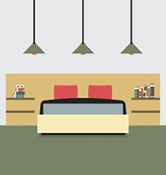 Flat Design Double Bedroom vector image