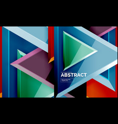 flying triangles compostion geometric background vector image