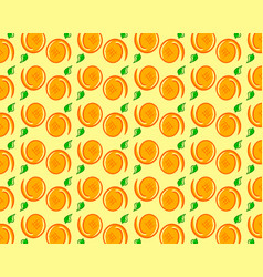 fresh oranges background hand drawn icons doodle vector image