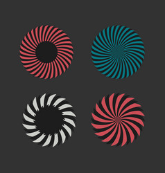 Gears and circles shapes vector