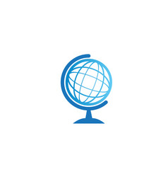 globe icon logo design on white background vector image