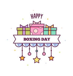 happy boxing day vector image