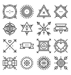 hipster design elements set on white background vector image