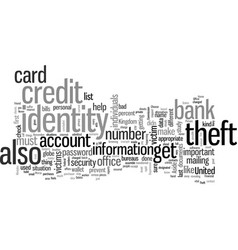 How to avoid identity theft vector