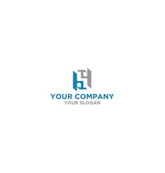 hs construction logo design vector image