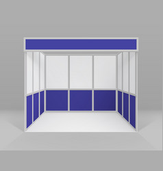indoor trade exhibition stand for presentation vector image