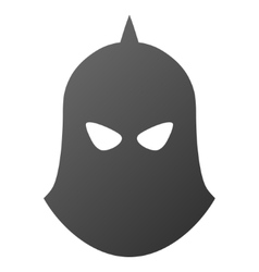 Knight Helmet Gradient Icon vector image