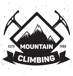 label ski club vintage mountain winter badge vector image