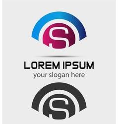 Letter S Logo Design Creative Symbol of letter S vector image
