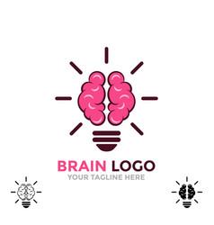 logo brain symbol creative ideas mind vector image