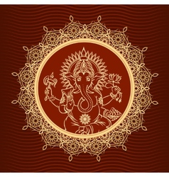 Lord ganesha sunburst vector