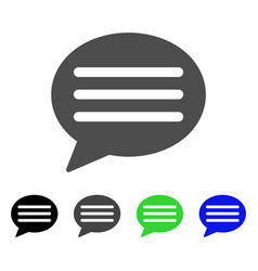 Message cloud flat icon vector