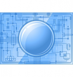 microchip with button vector image
