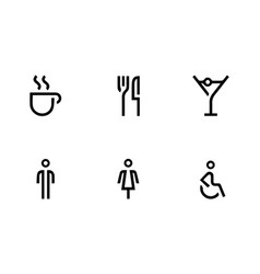 Modern collection of simple icons vector