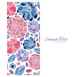 Mosaic flowers vertical frame seamless vector
