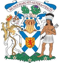 Nova scotia coat-of-arms vector