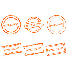 Nutritious stamps vector