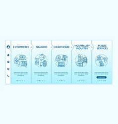 online access to services onboarding template vector image