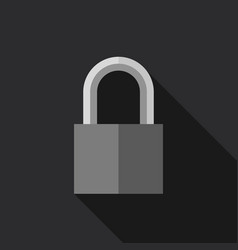 padlock in flat style vector image