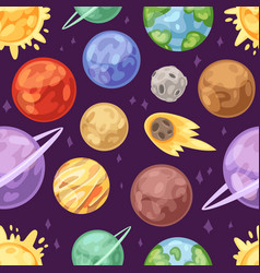 Planet planetary system in space vector