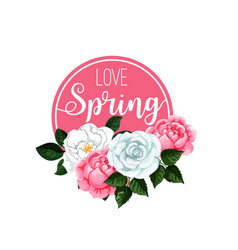 poster love spring vector image