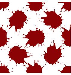 realistic blood splatters pattern vector image