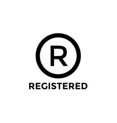 registered company icon design template isolated vector image