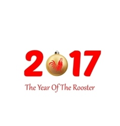 Rooster symbol of 2017 vector
