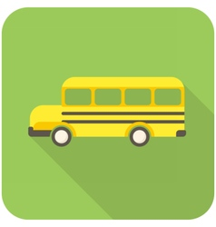 School Bus icon vector image