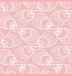 seamless decorative lace pattern on pink vector image