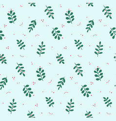 seamless pattern with branches and berries vector image
